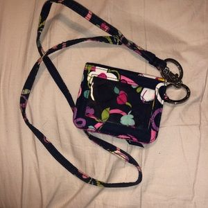 Vera Bradley Lanyard & Wallet in Ribbons